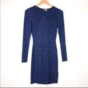 H&M Divided Sparkly Blue Dress